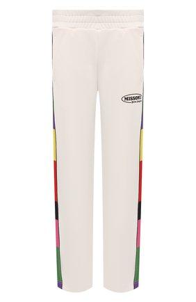 Мужские брюки palm angels x missoni PALM ANGELS кремвого цвета, арт. PMCA007F21FAB0120310 | Фото 1 (Материал внешний: Синтетический материал; Длина (брюки, джинсы): Стандартные; Случай: Повседневный; Стили: Спорт-шик)