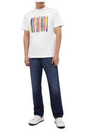 Мужская хлопковая футболка palm angels x missoni PALM ANGELS белого цвета, арт. PMAA001F21JER0300184 | Фото 2