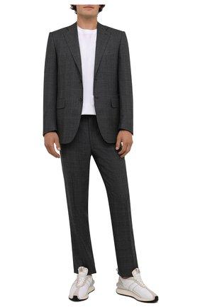 Мужской шерстяной костюм CANALI серого цвета, арт. 11220/10/BF00281 | Фото 1