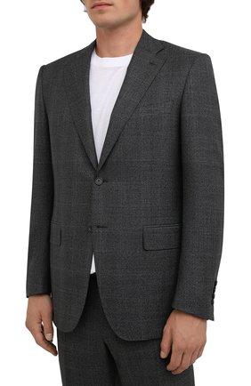 Мужской шерстяной костюм CANALI серого цвета, арт. 11220/10/BF00281 | Фото 2