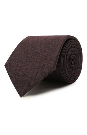 Мужской шелковый галстук CANALI коричневого цвета, арт. 18/HJ03284   Фото 1 (Материал: Шелк, Текстиль; Принт: С принтом)