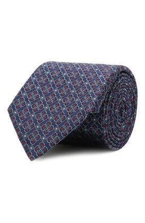 Мужской шелковый галстук CANALI темно-синего цвета, арт. 18/HJ03295 | Фото 1