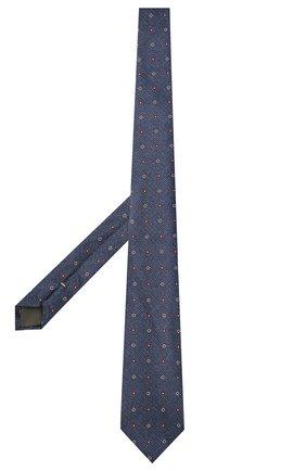 Мужской шелковый галстук CANALI синего цвета, арт. 18/HJ03297   Фото 2 (Материал: Текстиль, Шелк; Принт: С принтом)