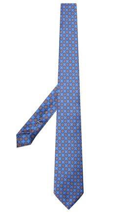 Мужской шелковый галстук CANALI синего цвета, арт. 18/HS03354   Фото 2 (Материал: Шелк, Текстиль; Принт: С принтом)