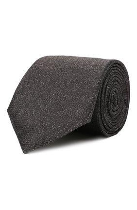 Мужской шелковый галстук CANALI темно-серого цвета, арт. 24/HJ03283 | Фото 1
