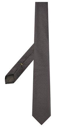 Мужской шелковый галстук CANALI темно-серого цвета, арт. 24/HJ03283 | Фото 2