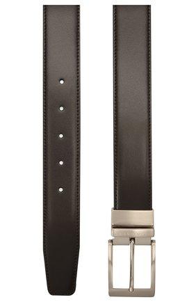 Мужской кожаный ремень CANALI темно-коричневого цвета, арт. 50C/KA00322 | Фото 2