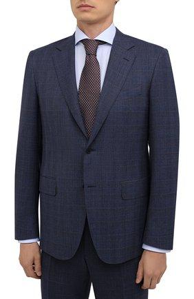 Мужской шерстяной костюм CANALI темно-синего цвета, арт. 11280/10/BR02785   Фото 2 (Материал внешний: Шерсть; Материал подклада: Купро; Костюмы М: Однобортный; Стили: Классический; Рукава: Длинные)