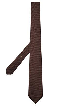 Мужской шелковый галстук CANALI коричневого цвета, арт. 82/HX03343   Фото 2 (Материал: Шелк, Текстиль; Принт: С принтом)