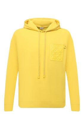 Мужской хлопковое худи LOEWE желтого цвета, арт. H526Y25J12 | Фото 1