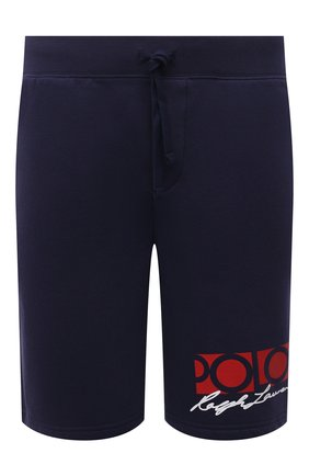 Мужские хлопковые шорты POLO RALPH LAUREN темно-синего цвета, арт. 710845180 | Фото 1 (Длина Шорты М: До колена; Материал внешний: Хлопок, Синтетический материал; Кросс-КТ: Трикотаж, Спорт; Стили: Спорт-шик; Принт: С принтом)