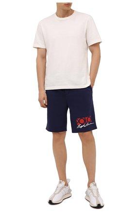 Мужские хлопковые шорты POLO RALPH LAUREN темно-синего цвета, арт. 710845180 | Фото 2 (Длина Шорты М: До колена; Материал внешний: Хлопок, Синтетический материал; Кросс-КТ: Трикотаж, Спорт; Стили: Спорт-шик; Принт: С принтом)