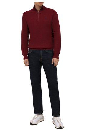 Мужской хлопковый джемпер POLO RALPH LAUREN бордового цвета, арт. 710701611   Фото 2