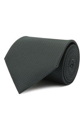 Мужской шелковый галстук BRIONI темно-зеленого цвета, арт. 062I00/01433 | Фото 1 (Материал: Шелк, Текстиль; Принт: Без принта)