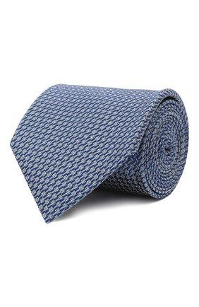 Мужской шелковый галстук BRIONI голубого цвета, арт. 062I00/01429   Фото 1