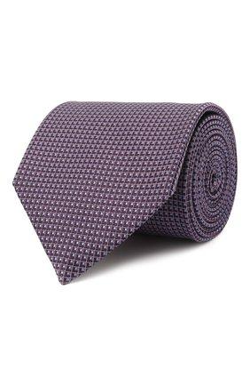 Мужской шелковый галстук BRIONI фиолетового цвета, арт. 062H00/01432 | Фото 1 (Материал: Текстиль, Шелк; Принт: С принтом)