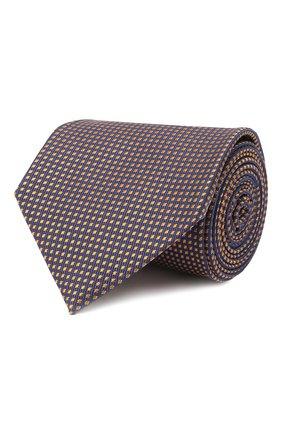 Мужской шелковый галстук BRIONI оранжевого цвета, арт. 062H00/01431   Фото 1