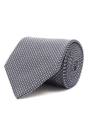 Мужской шелковый галстук BRIONI синего цвета, арт. 062H00/01422 | Фото 1 (Материал: Шелк, Текстиль; Принт: С принтом)
