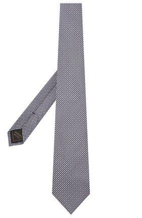 Мужской шелковый галстук BRIONI синего цвета, арт. 062H00/01422 | Фото 2 (Материал: Шелк, Текстиль; Принт: С принтом)