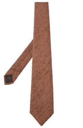 Мужской шелковый галстук BRIONI коричневого цвета, арт. 062H00/01410   Фото 2