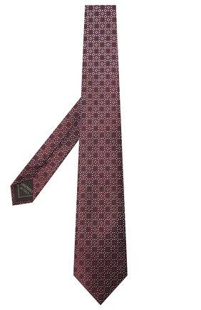 Мужской шелковый галстук BRIONI бордового цвета, арт. 061Q00/01409   Фото 2