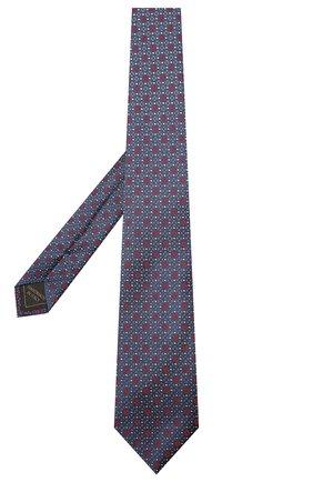 Мужской шелковый галстук BRIONI темно-синего цвета, арт. 061Q00/01409 | Фото 2 (Материал: Шелк, Текстиль; Принт: С принтом)