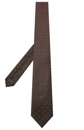 Мужской шелковый галстук BRIONI темно-коричневого цвета, арт. 061Q00/01409   Фото 2