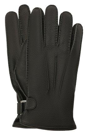 Мужские кожаные перчатки BRIONI черного цвета, арт. 05SH0L/04758 | Фото 1 (Мужское Кросс-КТ: Кожа и замша)