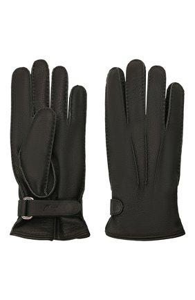 Мужские кожаные перчатки BRIONI черного цвета, арт. 05SH0L/04758 | Фото 2 (Мужское Кросс-КТ: Кожа и замша)