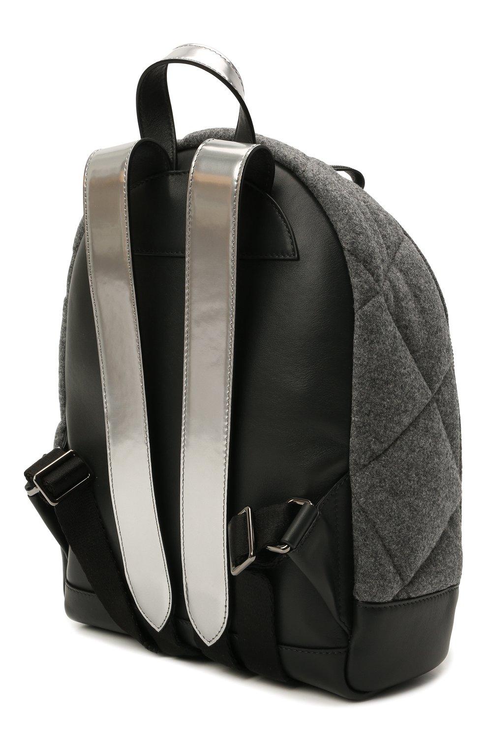 Детская шерстяной рюкзак BRUNELLO CUCINELLI серого цвета, арт. BT38PB022 | Фото 2 (Материал: Текстиль)