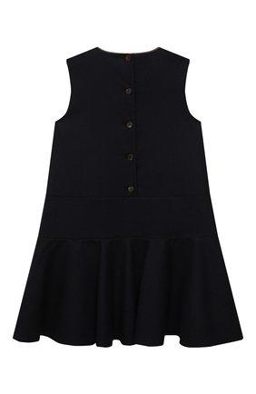 Детское шерстяное платье BRUNELLO CUCINELLI темно-синего цвета, арт. BB034A265B | Фото 2