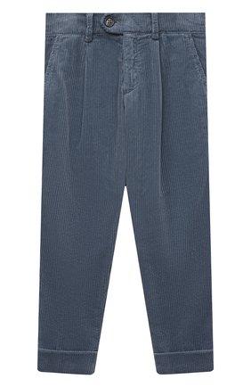 Детские хлопковые брюки BRUNELLO CUCINELLI серого цвета, арт. B280PP100B   Фото 1 (Материал внешний: Хлопок; Ростовка одежда: 10 - 11 лет   140 - 146см, 8 лет   128 см)