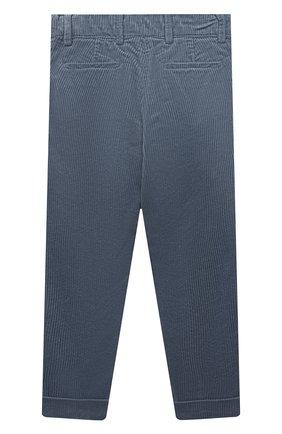 Детские хлопковые брюки BRUNELLO CUCINELLI серого цвета, арт. B280PP100B   Фото 2 (Материал внешний: Хлопок; Ростовка одежда: 10 - 11 лет   140 - 146см, 8 лет   128 см)