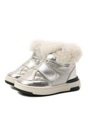 Детские кожаные ботинки MONTELPARE TRADITION серебряного цвета, арт. MT7558/LAMINAT0/M0NT0NE/18-26 | Фото 1