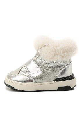 Детские кожаные ботинки MONTELPARE TRADITION серебряного цвета, арт. MT7558/LAMINAT0/M0NT0NE/18-26 | Фото 2