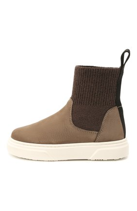 Детские кожаные ботинки MONTELPARE TRADITION коричневого цвета, арт. MT18301/M0RBID0NE/T0MAIA/M0NT0NE/18-27 | Фото 2