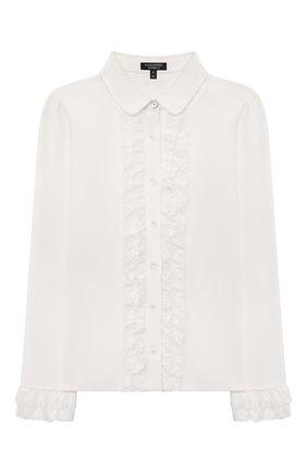 Детское хлопковая блузка ALESSANDRO BORELLI MILANO белого цвета, арт. SP21107 | Фото 1
