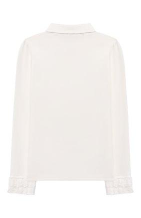 Детское хлопковая блузка ALESSANDRO BORELLI MILANO белого цвета, арт. SP21107 | Фото 2