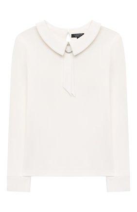 Детское хлопковая блузка ALESSANDRO BORELLI MILANO белого цвета, арт. SP21104 | Фото 1