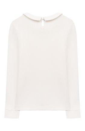 Детское хлопковая блузка ALESSANDRO BORELLI MILANO белого цвета, арт. SP21104 | Фото 2