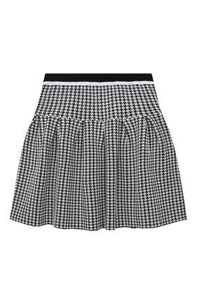 Детская юбка ALESSANDRO BORELLI MILANO черно-белого цвета, арт. MG2152 | Фото 1