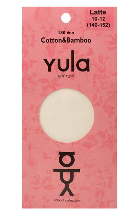 Детские колготки cotton & bamboo YULA бежевого цвета, арт. YU-220   Фото 1