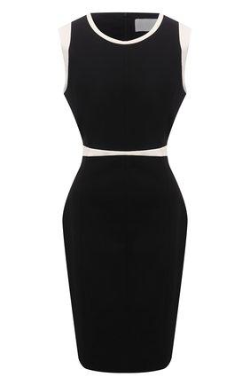 Женское платье из вискозы BOSS черного цвета, арт. 50453615 | Фото 1