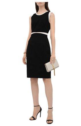 Женское платье из вискозы BOSS черного цвета, арт. 50453615 | Фото 2