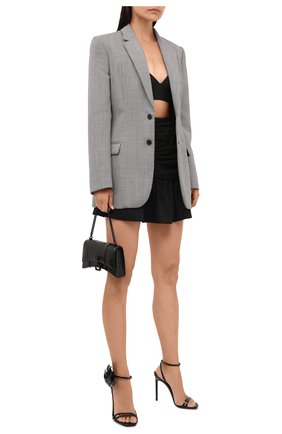 Женские кожаные босоножки amber SAINT LAURENT черного цвета, арт. 658153/1TV20 | Фото 2 (Каблук высота: Высокий; Материал внутренний: Натуральная кожа; Подошва: Плоская; Каблук тип: Шпилька)