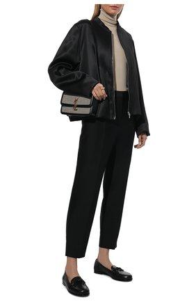 Женская куртка из вискозы TOTÊME черного цвета, арт. 213-103-714 | Фото 2