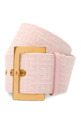 Женский текстильный ремень BALMAIN розового цвета, арт. WN1WC041/TJMA   Фото 1