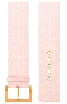 Женский текстильный ремень BALMAIN розового цвета, арт. WN1WC041/TJMA   Фото 2