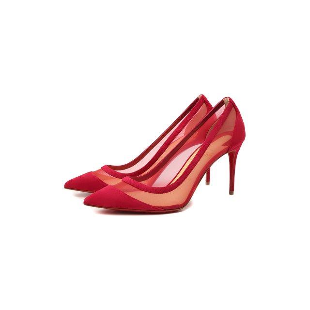Комбинированные туфли Galativi 85 Christian Louboutin