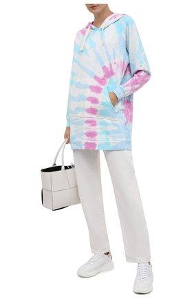 Женский хлопковое худи ELECTRIC&ROSE разноцветного цвета, арт. LFCV44-PRISM | Фото 2 (Рукава: Длинные; Длина (для топов): Удлиненные; Материал внешний: Хлопок; Стили: Спорт-шик; Женское Кросс-КТ: Худи-одежда)